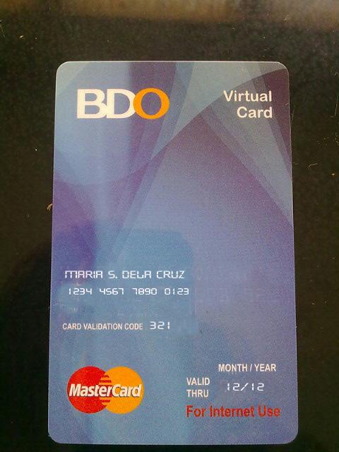virtual visa card